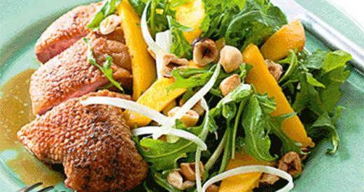 Crispy-Skin Duck, Wild Rocket & Orange Salad